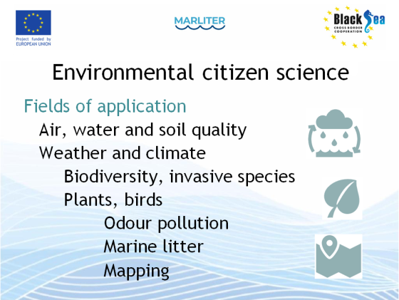 Application fields for citizen science